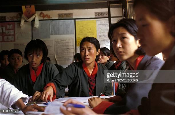 The kingdom of Bhutan In August, 1999-Thimphu: Yangchenphug high school- math class