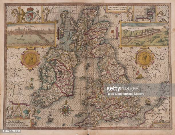 The Kingdom of Great Britain and Ireland graven by Jodocus Hondius From A Prospect of the most Famous Parts of the World Together With all the...