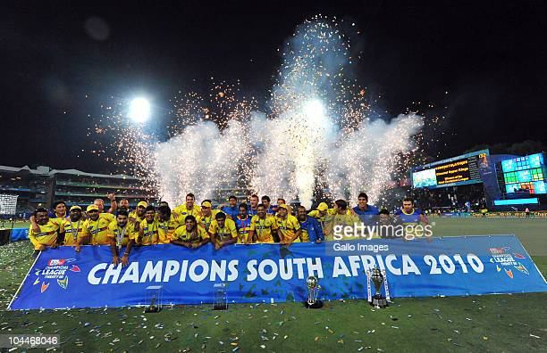 The Kings celebrate during the 2010 Airtel Champions League Twenty20 final match between Chennai Super Kings and Chevrolet Warriors from Bidvest...