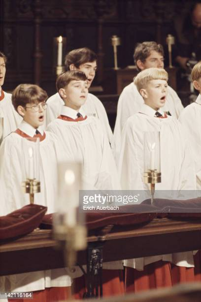 The King's College Choir in Cambridge 1968