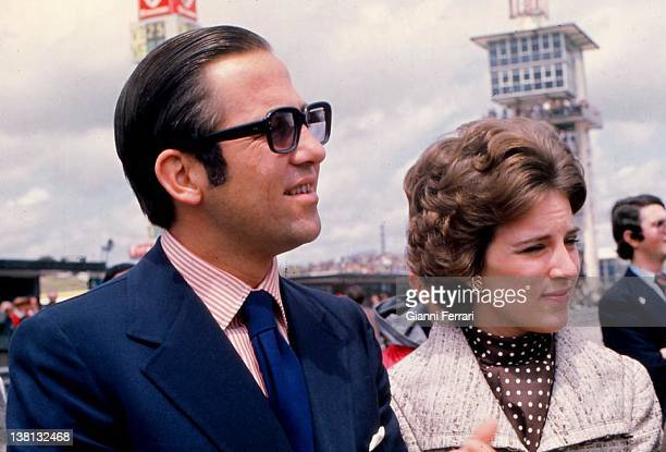 The Kings of Greece Constantine and Ana Maria at the racetrack of 'Jarama' Madrid Spain