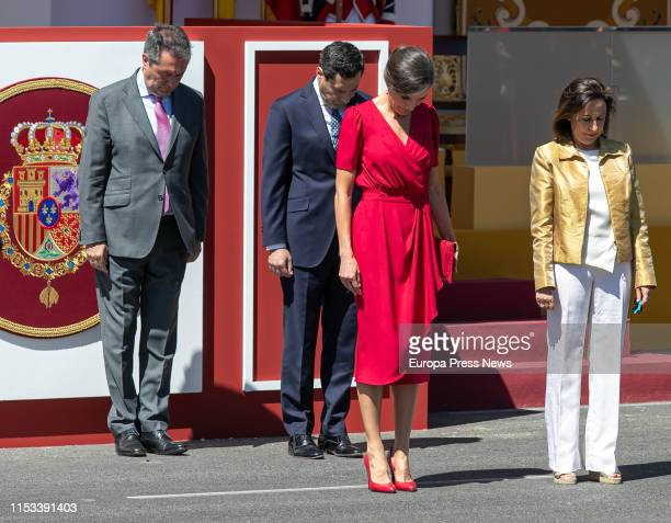 The Kings of Spain preside over the Day of the Armed Forces on June 01 2019 in Sevilla Spain