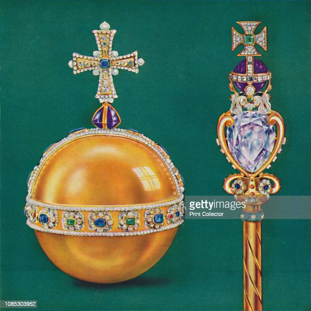 """The King's Orb and Sceptre', 1937. From """"The Crowning of The King and Queen"""". [Evans Brothers Limited, London, 1937]Artist Unknown."""