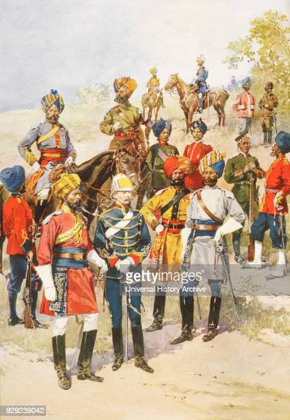 The King's Own Regiments of the Indian Army who came to the coronation of King George V 1910 From The Illustrated London News 1910