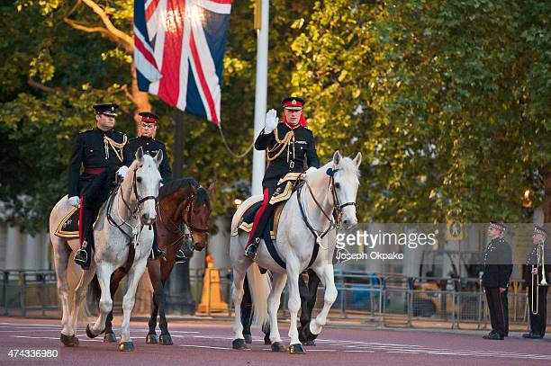 The King's Troop Royal Horse Artillery practise their maneuvers on the Mall leg of the route during the rehearsal of the State Opening of Parliament...
