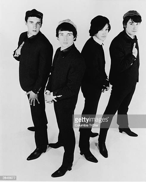 The Kinks Mick Avory Peter Quaife Dave Davies and Ray Davies pose for a promotional photo circa 1964