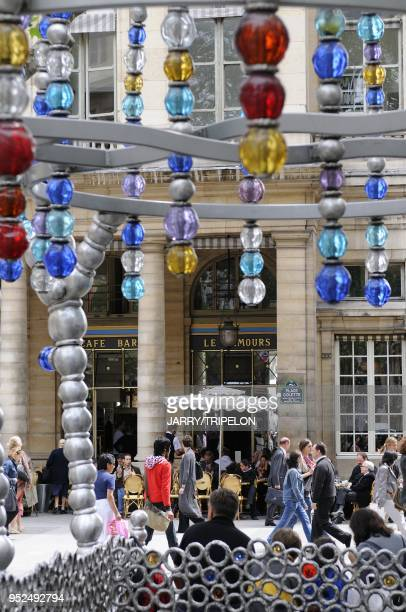 The Kiosque des Noctambules by Jean Michel Othoniel in 2000 for the centenary of the subway the entrance of Palais Royal subway station in Place...