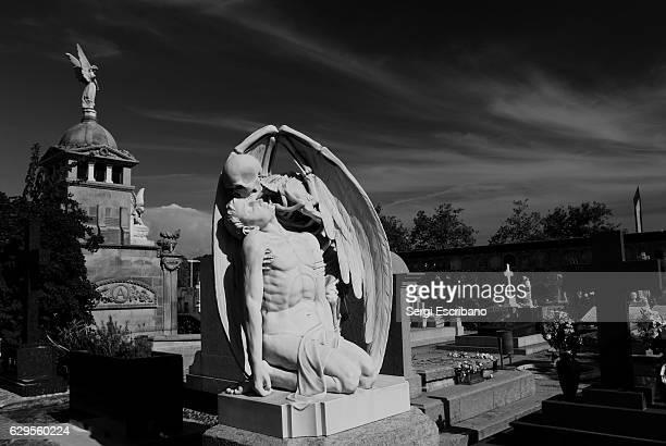 the kiss of death - angel of death imagens e fotografias de stock
