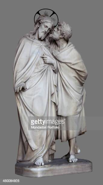The Kiss of Judas Iscariot , by Ignazio Jacometti 19th Century, marble.