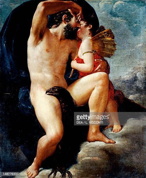 The kiss of Jupiter by Pietro Costa Italy 19th Century Genoa Museo Dell'Accademia Ligustica Di Belle Arti