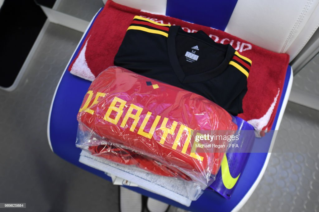 low priced e546d 997b6 The kit of Kevin De Bruyne of Belgium is seen inside the ...