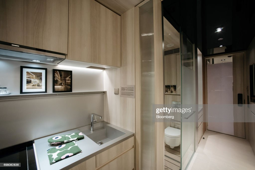 The Kitchen Area Is Seen Next To The Water Closet Inside A Seven Victory  Avenue Microapartment