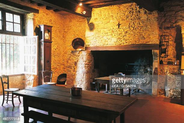 The kitchen in Chateau Castelmore MidiPyrenees France