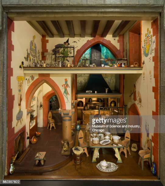 The Kitchen in Colleen Moore'u2019s Fairy Castle at The Museum of Science and Industry Chicago Illinois February 12 2013 The kitchen is filled with...