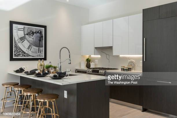 The Kitchen in Unit 211 of the historically renovated building at 1745 N Condominiums on October 31 2018 in Washington DC