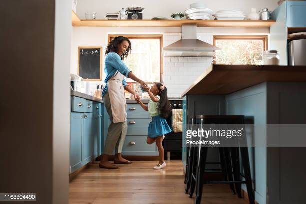 the kitchen is our happy place - home interior stock pictures, royalty-free photos & images