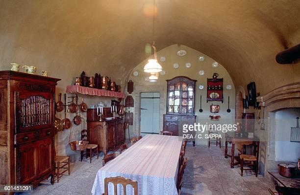 The kitchens Gordes castle ProvenceAlpesCote d'Azur France 11th16th century