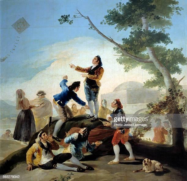 The Kite Painting by Francisco de Goya y Lucientes 1779 269 x 285 m Prado Museum Madrid