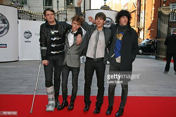 the Klaxons arriving at the Nationwide Mercury Prize on September 4 2007 at the Grovesnor House Hotel in London England