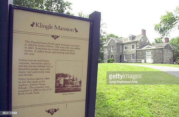 The Klingle mansion one of the stops of investigators searching for evidence leading to whereabouts of missing Washington intern Chandra Levy