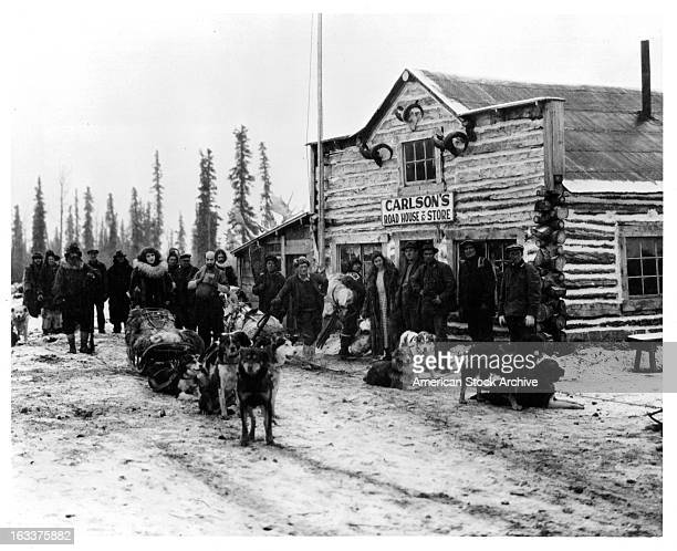 The Klondike with sled dogs in historic Alaska 1955