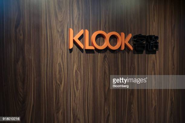 The Klook Travel Technology Ltd logo is displayed at the company's office in Hong Kong China on Wednesday Feb 7 2018 For the past seven years the...