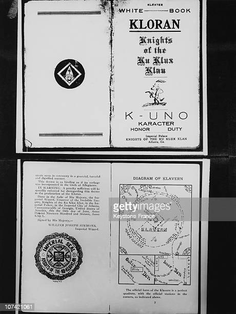 The Kloran The White Book Of The Ku Klux Klan In Usa
