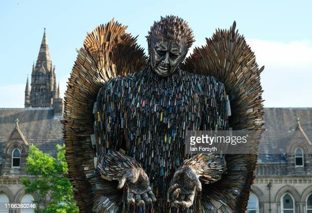 The Knife Angel sculpture is installed in the Centre Square in Middlesbrough on August 06 2019 in Middlesbrough England The 27ft sculpture is being...