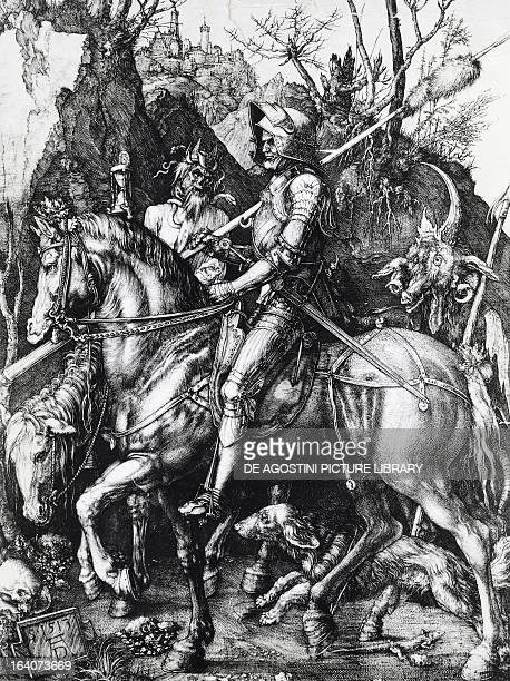The Knight Death and the Devil 15131514 engraving by Albrecht Durer Florence Galleria Degli Uffizi Gabinetto Disegni E Stampe Degli Uffizi