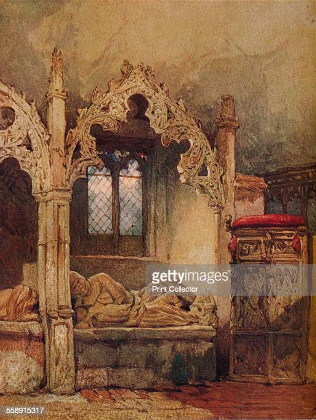 'The Knight is Dust' 1869 The fourteenth century tomb of King Edward II's valet Sir Philip De La Beche Aldworth Church Berkshire Painting held in the...