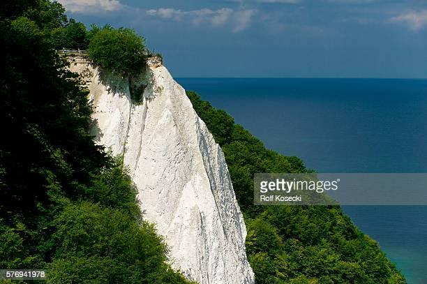 The Königsstuhl chalk cliffs in Jasmund on June 09 2012 in Sassnitz Germany