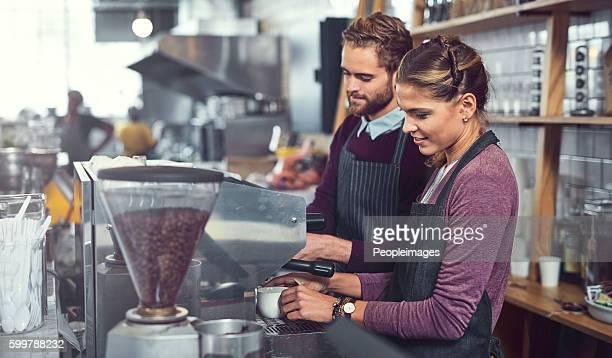 The know their way around a coffee machine