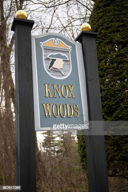 The Knox Woods neighborhood sign in Clifton Park New York on Thursday May 3 2018 Several members of alleged sex cult NXIVM including founder Keith...