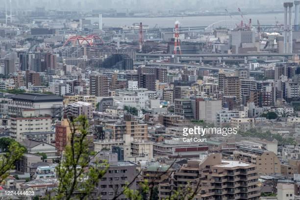 The Kobe city skyline is pictured on July 03, 2019 in Kobe, Japan.