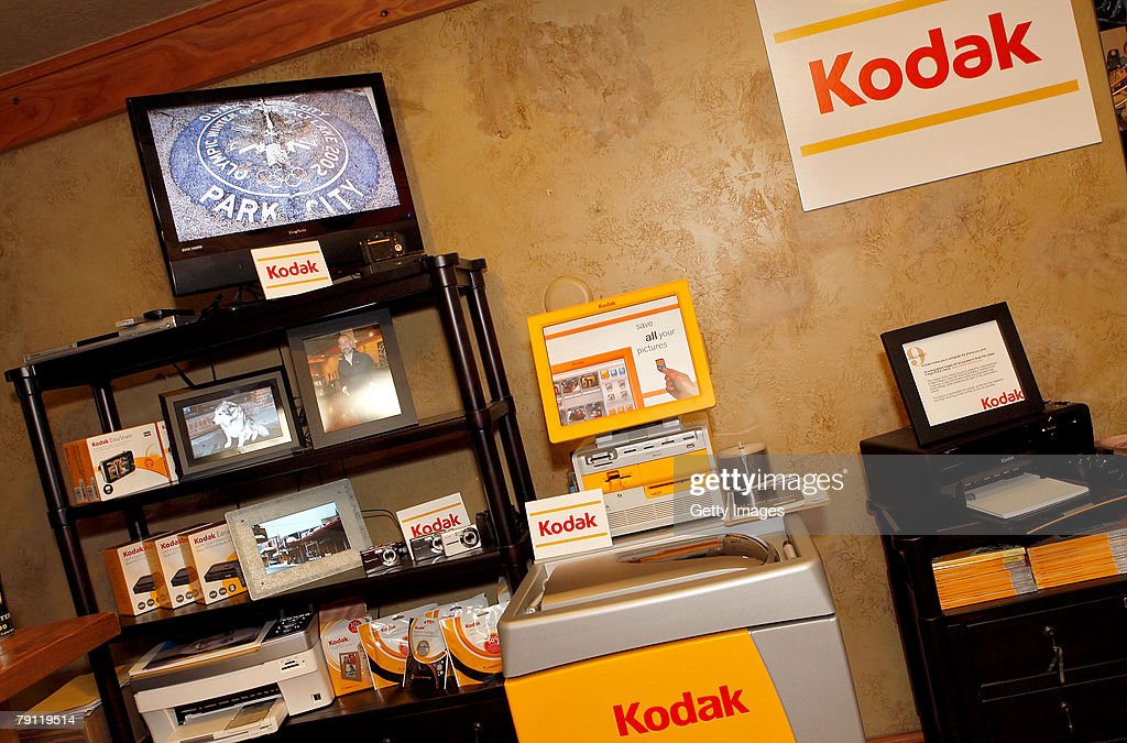 The Kodak display is seen at the Gibson Guitar celebrity hospitality lounge held at the Miners Club during the 2008 Sundance Film Festival on January 19, 2008 in Park City, Utah.