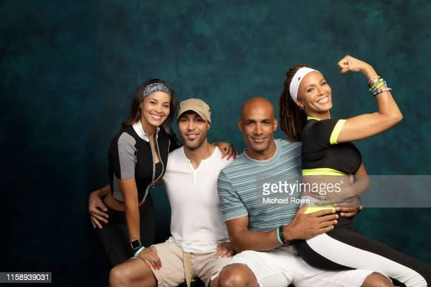 The Kodjoe family Nicole Kuykendall Kodjoe Patrick Kodjoe Boris Kodjoe and Nicole Ari Parker are photographed for Essencecom on July 5 2019 at 2019...