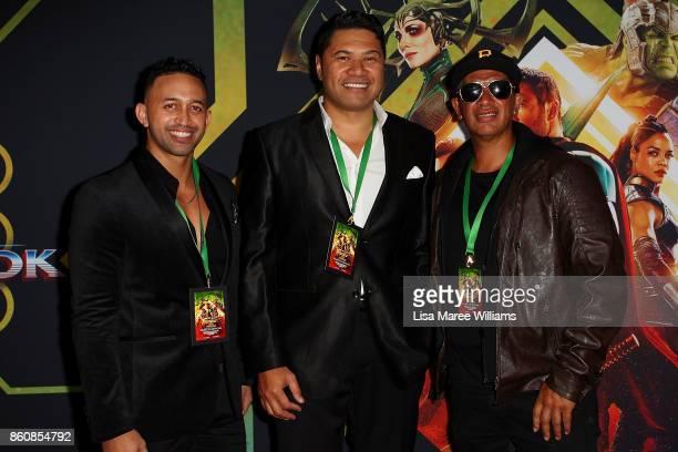 The Koi Boys arrive for the Australian Premiere of Thor Ragnarok on October 13 2017 in Gold Coast Australia