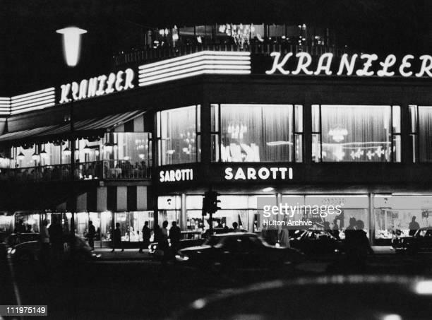 The Konditorei Kranzler a patisserie on the Kurfurstendamm in west Berlin circa 1960