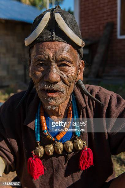 The Konyak tribe were famous headhunters until this practice was banned at the end of 1960s. Facial tattoos were the attributes of warriors, as well...