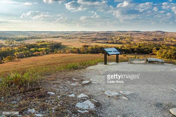 the konza prairie nature trail - manhattan kansas stock pictures, royalty-free photos & images
