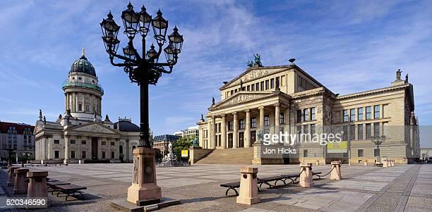 the konzerthaus and the deutcher dom - deutscher dom stock pictures, royalty-free photos & images