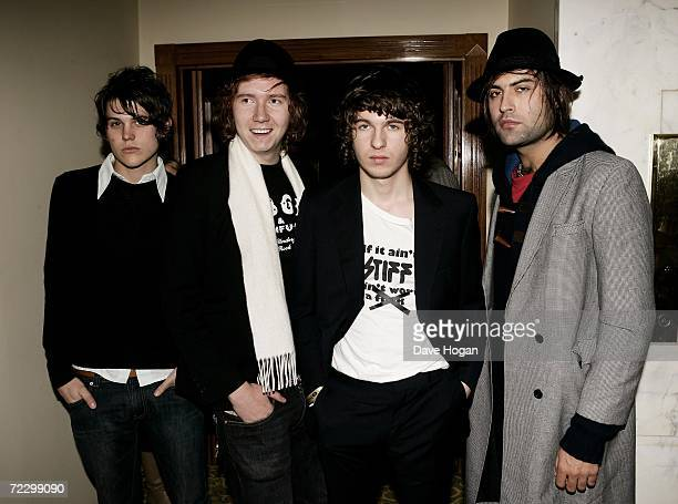 The Kooks members Paul Garred Hugh Harris Luke Pritchard and Pete Denton arrive at the Q Awards 2006 at Grosvenor House Hotel on October 30 2006 in...