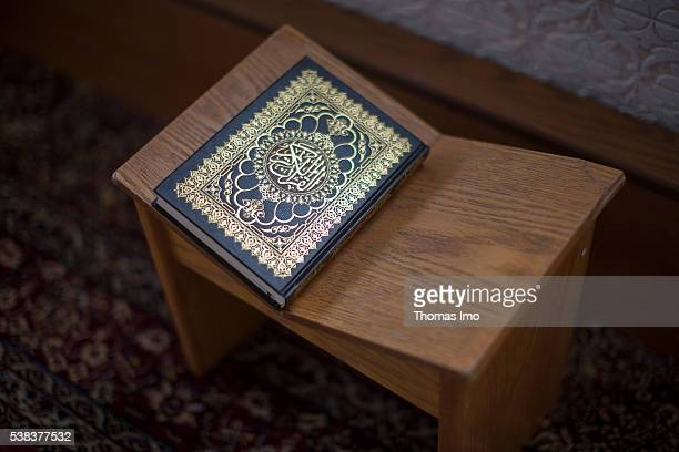 The Koran is lying on a table in the Shishan Mosque on April 08 2016 in Sweileh Jordan