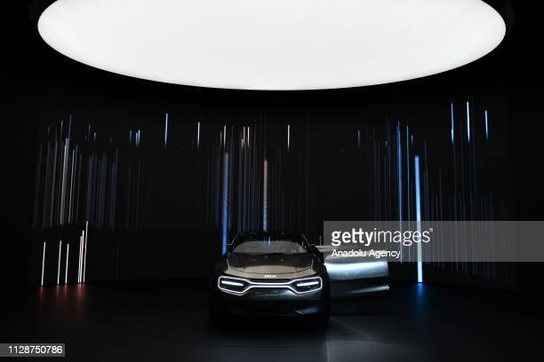 The Korean automaker Kia is unveiled an electric concept car at the 89th Geneva International Motor Show in Geneva, Switzerland on March 05, 2019.