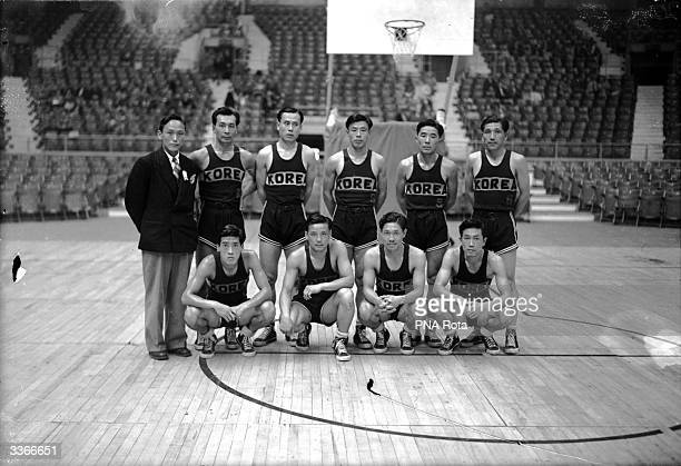 The Korean basketball team at the 1948 Olympics in London