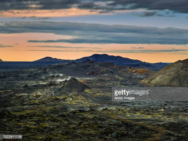 The Krafla Lava fields, Leirhnukur Hot Spring Area, Iceland