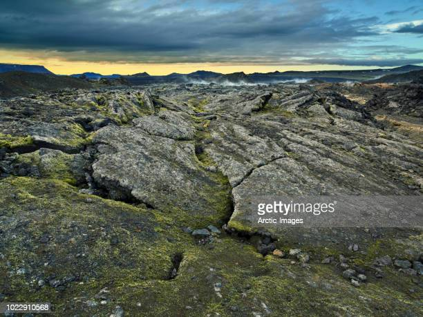 the krafla lava fields,  myvatn area, northern iceland - lava plain stock pictures, royalty-free photos & images