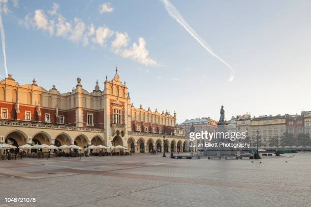 the krakow cloth hall in krakow, poland. - krakow stock pictures, royalty-free photos & images