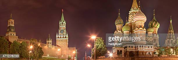The Kremlin and Saint Basil's, Moscow at night - panorama