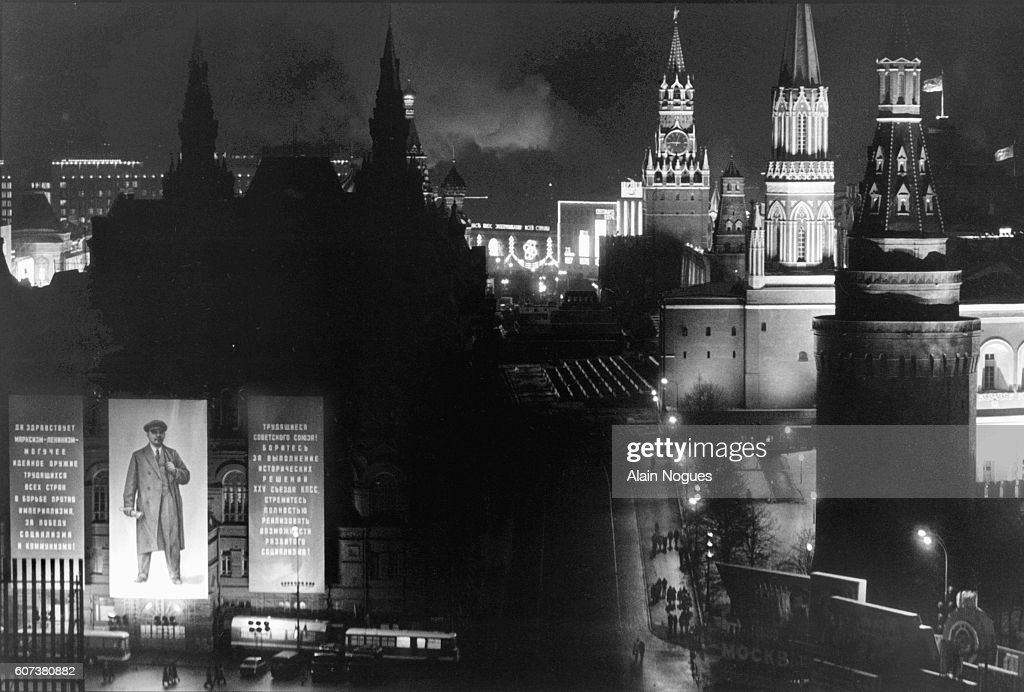 The Kremlin by Night Seen from the National Hotel : News Photo
